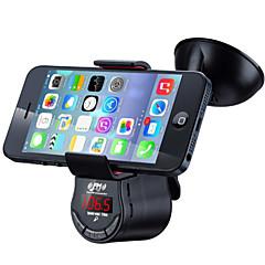 iPhoneとiPad / Bluetoothハンズフリーカーキット/ FMトランスミッター用のスマートカーホルダー自動車/車の充電器への音楽