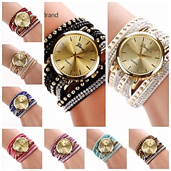 Women's  Big Round  Dial  Diamante Mushroom Circuit   Flocking  Band Quartz  Watch (Assorted Color)C&d222