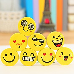 Cute Smling Face Stylish Erasers(4PCS-Packed Random Delivery)