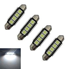 Festoon Lampe de Décoration 4 SMD 5050 80-90lm lm Blanc Froid DC 12 V 4 pièces
