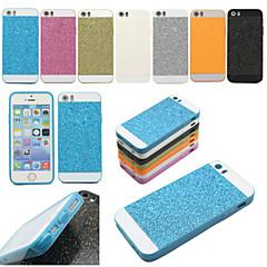 TPU bling douce paillettes retour de cas de couverture pour iphone 5 / 5s (couleurs assorties)