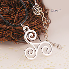 eruner®teen lobo colar triskele triskelion Allison Argent pingente jóias de prata cor