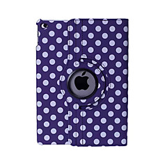 Round Dots PU Leather 360⁰ Cases/Smart Covers iPad Air 2/iPad 3/iPad 4 (Assorted Colors)