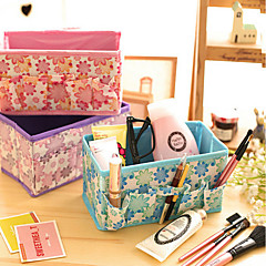 Folding Floral Non-Woven Fabric Storage Boxes Cosmetic Box(Assorted Color)
