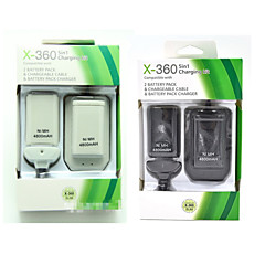 5 in 1 USB 4800mAh Battery Pack & Charger Cable Kit For Xbox-360