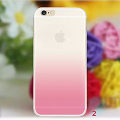 Til iPhone X iPhone 8 iPhone 8 Plus iPhone 6 iPhone 6 Plus Etuier Transparent Bagcover Etui Farvegradient Blødt TPU for iPhone X iPhone 8
