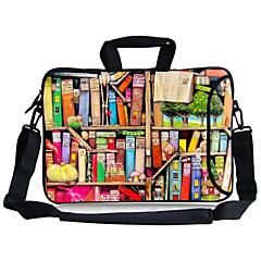 """핸들을 들고 elonbo 다채로운 책장&13 """"macboob 프로 마력 이동식 어깨 끈 노트북 가방"""