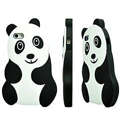 Panda Pattern Silicone Material Protective Shell for iPhone 5/5S