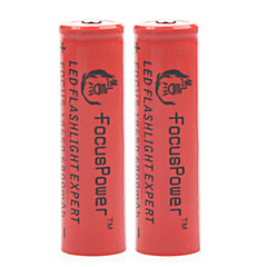 Focus Power 4.2V 6800mAh 18650 Rechargeable Lithium Ion Battery(2pcs)