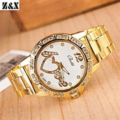 amour de diamant de mode les paroles de femmes quartz analogique montre bracelet de ceinture de maille (couleurs assorties)