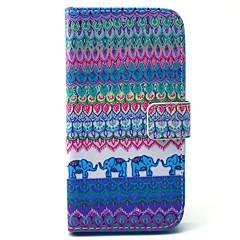 tribal teppe elefant mønster pu lærveske med penger holder kortspor for Samsung Galaxy S3 i9300