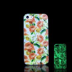 Teste padrão de flores brilham no escuro caso difícil para o iphone 5 / iPhone 5 s