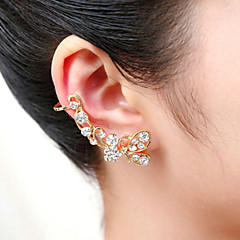 Earring Ear Cuffs Jewelry Women / Couples Wedding / Party / Daily / Casual Crystal / Silver Plated / Gold Plated 1pc