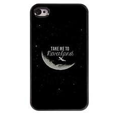 Take Me To Neverland Design Aluminum Hard Case for iPhone 4/4S