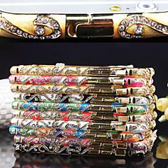 haute précision de style chinois cadre métallique pare-chocs avec diamant pour iphone 5 / 5s (de couleurs assorties)