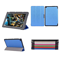 10.1 Inch Three Folding PatternHigh Quality PU Leather Case with Stand for ASUS T100 chi(Assorted Colors)