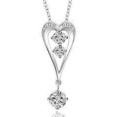 Cremation jewelry 925 sterling silver Heart with Water Drop Pendant Necklace for Women