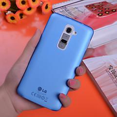 Voor LG hoesje Beplating hoesje Achterkantje hoesje Effen kleur Hard PC LG LG G10