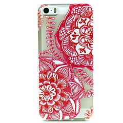 rosso modello mandala ultrasottile tpu caso molle della copertura posteriore per iPhone 5 / 5s