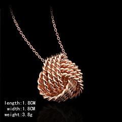 rosa de oro bañado forma de la bola pendents encanto