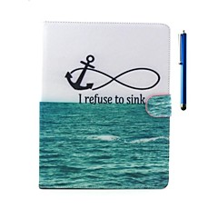 Ocean Pattern PU Leather Case with Stand and Pen for iPad 2/3/4