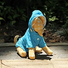 Perros Impermeable Azul / Naranja / Rosa Primavera/Otoño Un Color A Prueba de Agua