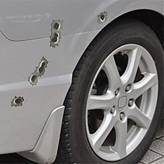Car Stickers with The Bullet Holes Car Styling