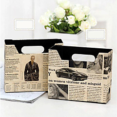 Newspaper Design DIY Paper Storage Box(Random Pattern)
