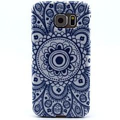 gri flori de soare model TPU caz moale pentru Samsung Galaxy s6