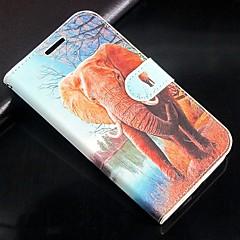 Na Etui Sony / Xperia Z3 Portfel / Etui na karty / Z podpórką / Flip Kılıf Futerał Kılıf Słoń Twarde Skóra PU na SonySony Xperia Z3 /