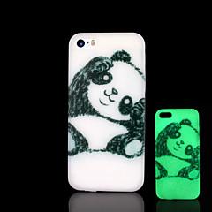 motif panda lueur dans l'étui rigide noir pour iphone 5 / iphone 5 s