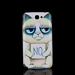 kissa kisu eläin kuvio kansi fo Samsung Galaxy Note 2 n7100 tapauksessa