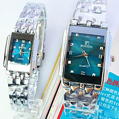 Couple's New Square Green Dial Fashion Quartz Watches