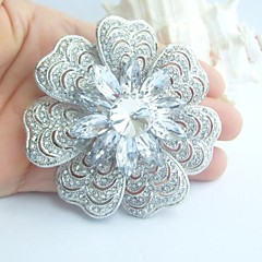 Wedding Accessories Silver-tone Clear Rhinestone Crystal Bridal Brooch Wedding Deco Wedding Brooch Bridal Bouquet
