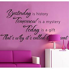 Gisteren is geschiedenis woondecoratie muuroverdrukplaatjes zooyoo8138 decoratieve verwijderbare vinyl muurstickers