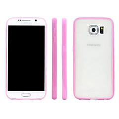 Translucent Scrub  PC Material  After the Shell Fruit Color TPU Frame Phone Case for Samsung Galaxy S6 (Assorted Colors)