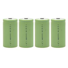 10000mAh 1.2V D-type Rechargeable NiMH Battery (4pcs)