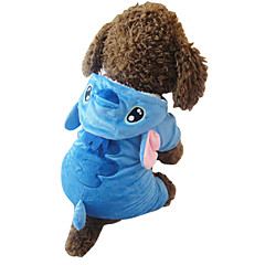 Katzen / Hunde Kostüme / Kapuzenshirts / Pyjamas Blau Hundekleidung Winter / Frühling/Herbst Karton Niedlich / Cosplay