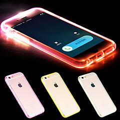 Varten iPhone 6 kotelo / iPhone 6 Plus kotelo LED salamavalo / Läpinäkyvä Etui Takakuori Etui Yksivärinen Pehmeä TPUiPhone 6s Plus/6 Plus