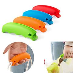 1st silikon shoppingväska grepp handtag med nyckelring hål (slumpvis färg)