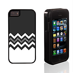 le design noir et blanc 2 en 1 armure hybride complet du corps à double couche choc protecteur mince affaire pour iPhone 5 / 5s