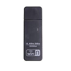 adaptateur wifi 300mbps 11n double bande adaptateur Wi-Fi n usb / 5GHz cartes réseau 2.4ghz wifi adaptateur USB