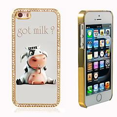 lait obtenu la conception hybride de luxe bling paillettes brillent avec étui cristal strass pour iPhone 5 / 5s