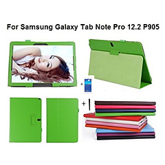 PU Leather Cover Case For Samsung Galaxy note Pro 12.2 P900 P901 P905 +Screen Protector+ Stylus