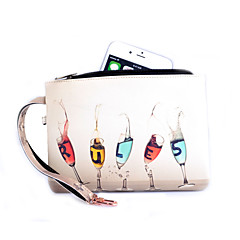 Goblet Pattern Common PU Leather Material Handbag Lanyard for iPhone 4/4S 5/5S  6  6 Plus  5C