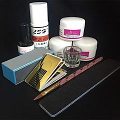 29PCS Acrylic Powder Primer Brush Pen Dish Forms Buffer File Nail Art Set