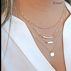 Necklace Chain Necklaces / Pearl Necklace Jewelry Daily / Casual / Sports Fashion Pearl / Alloy Silver 1pc Gift