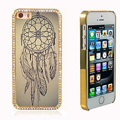 Dream Catcher Design Luxury Hybrid Bling Glitter Sparkle With Crystal Rhinestone Case for iPhone 5/5S