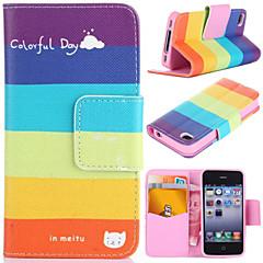 motif de la journée avec un sac coloré de carte de cas complète du corps pour iPhone 4 / 4S