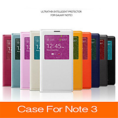 2015 New Smart View Window Auto Dormancy Sleep Function Flip Leather Cover Case For Samsung Galaxy Note 3